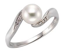 Diamonds by Ellen K. Ring 9 Karat (375) Weißgold rhodiniert Diamant weiß