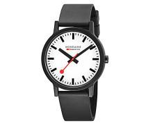 Datum klassisch Quarz Uhr mit Gummi Armband MS1.41110.RB