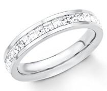 Damen-Ring Swarovski Kristall, Edelstahl, weiß