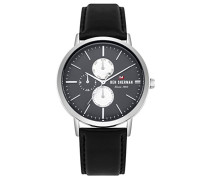 Datum klassisch Quarz Uhr mit Leder Armband WBS104B