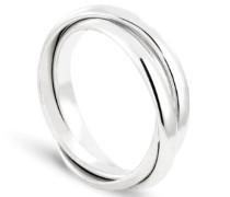 Ring Alliance en Argent 3 anneaux Taille 51, Sterling-Silber 925, 51 (16.2)