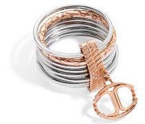 Ring Edelstahl Kristall Infinity pink SCHX17014
