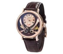 Beaufort Anatolia ES-8059-03 mechanische Armbanduhr mit Automatikgetriebe, braunes Zifferblatt mit klassischer Analoganzeige
