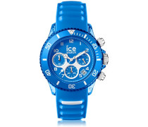 ICE aqua Skydiver - Blaue Herrenuhr mit Silikonarmband - Chrono - 012735 (Large)