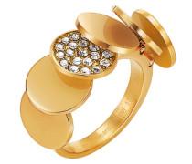 Ring 925 Sterling Silber Edelstahl rhodiniert Kristall Zirkonia Voilette weiß
