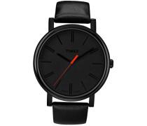 Herren-Armbanduhr Schwarz Analog Leder T2N794PF