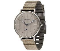 Analog Quarz Smart Watch Armbanduhr mit Holz Armband WW63001