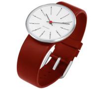 Unisex-Armbanduhr Analog Edelstahl weiss 43476
