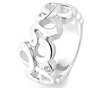 Ring love Herz 925 Silber Brillantschliff Zirkonia weiß LD LO 12