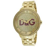 D&G Dolce&Gabbana Armbanduhr Analog Quarz Leder DW0379
