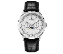 Analog Quarz Uhr mit Leder Armband 40101-3C-AIN