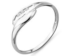 Damen Ring 9 Karat (375) Weißgold Brillanten