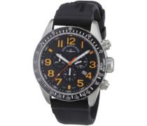 Armbanduhr XL Quarz Analog Leder 6497-5030Q-s15