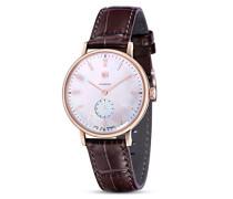 Analog Quarz Uhr mit Leder Armband Walter Gropius DF-9001-09 Quartz