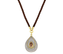 Halskette Fashion Messing teilrhodiniert Zirkonia 50 cm weiß 273050017