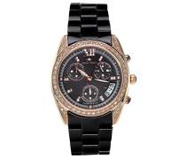 Armbanduhr - Analog Quarz - Premium Keramik Armband - Perlmutt Zifferblatt - Diamanten und Swarovski Elemente - STM18SM26