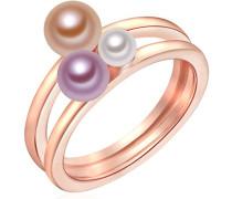 Ring rosevergoldet 925 Silber teilvergoldet Perle Süßwasser-Zuchtperle