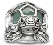 Bead Schildkröte Karma Beads 925 Sterling Silber geschwärzt Zirkonia schwarz Aventurin grün K0194-586-33
