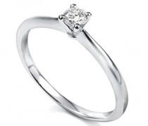 Ring, Platin, Diamant, 53 (16.9)