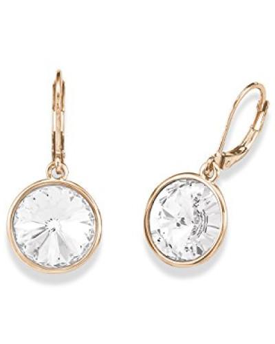 Ohrhänger rosévergoldet veredelt mit Swarovski Kristallen 33 mm