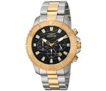 24003 Pro Diver Uhr Edelstahl Quarz schwarzen Zifferblat