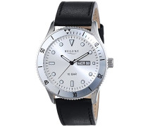 Herren-Armbanduhr XL Analog Quarz Leder 11110708