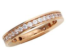 ! Damen-Ring 925 Silber Zirkonia weiß Rundschliff