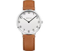 Damen-Armbanduhr Analog Quarz Leder 13934-504