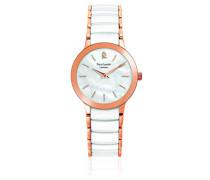 Analog Quarz Uhr mit Keramik Armband 013L990