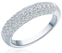 Ring 925 Sterling Silber Zirkonia weiß - Silberring mit Steinen in Pavé-Fassung 60800059