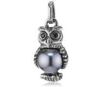 Anhänger 925 Silber Perle Brillantschliff Zirkonia grau LD OW 31- B