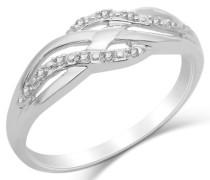 Ring 9 Karat (375) Weißgold Diamant 57 (18.1) SA919R6