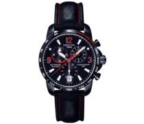 Armbanduhr XL Chronograph Quarz Leder C001.639.16.057.02