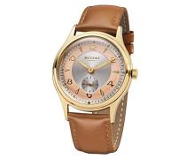 Analog Quarz Uhr mit Leder Armband 11100269