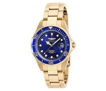 17052 Pro Diver Uhr Edelstahl Quarz blauen Zifferblat