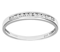 Damen-Ring 375 Weißgold 9 K Diamant PR08924W-J