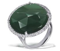 Damen-Ring 925 Sterling Silber Aventurin grün