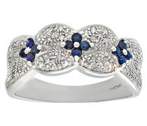 Ring 375 Gelbgold 9 K Saphir Diamant PR06978W SA-J