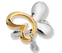 Ring 925 Sterling Silber Zweifarbig