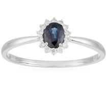 Damen-Ring 18 kt Weißgold Saphir-badm 07073-0001