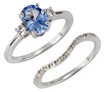 Verlobungsringe 925_Sterling_Silber mit Spinell '- Ringgröße 60 (19.1) 360272112-060