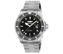 25715 Pro Diver Uhr Edelstahl Quarz schwarzen Zifferblat