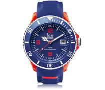 ICE sporty Blue Red - Blaue Herrenuhr mit Silikonarmband - 001330 (Extra Large)