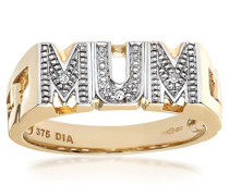 Damen-Ring 375 Gelbgold 9 K Diamant PR04317Y-L