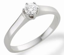 MC006WBR 18 Karat (750) Weißgold Solitär Ringe mit IGI Zertifikat für Brillant 0