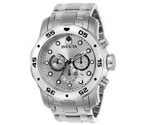 0071 Pro Diver - Scuba Uhr Edelstahl Quarz silbernen Zifferblat