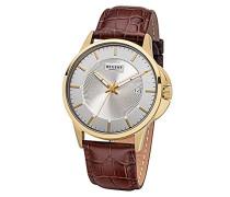 Analog Quarz Uhr mit Leder Armband 11100272