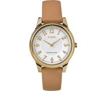 Damen-Armbanduhr Analog Quarz Leder TW2R87000