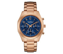 Armbanduhr BOYFRIEND Chronograph Quarz Edelstahl beschichtet 44L199