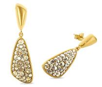 Ohrhänger gelbvergoldet veredelt mit Swarovski Kristallen 42 mm